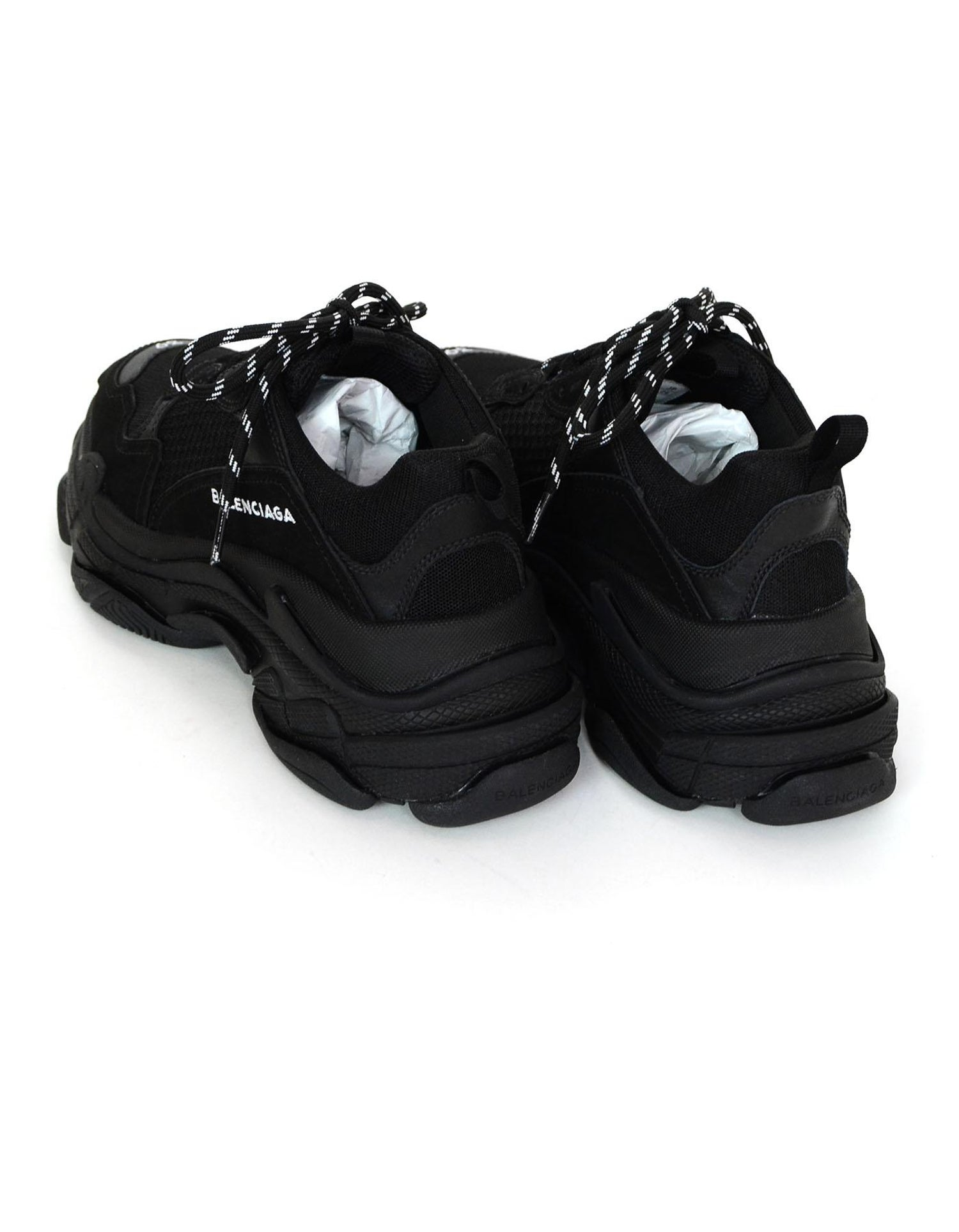 32d8325404f Balenciaga Black Triple S Trainers Sneakers at 1stdibs