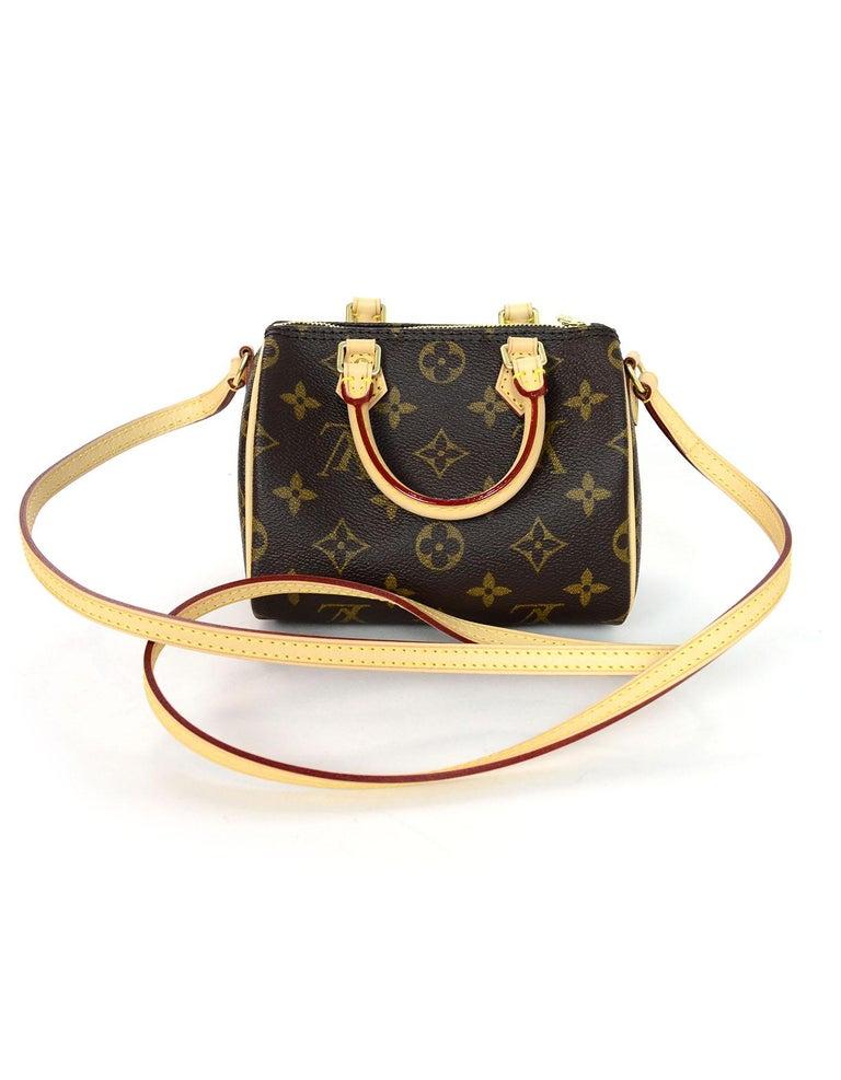 01dd69b3eda Black Louis Vuitton LIKE NEW SOLD OUT Monogram Nano Mini Speedy Crossbody  Bag For Sale