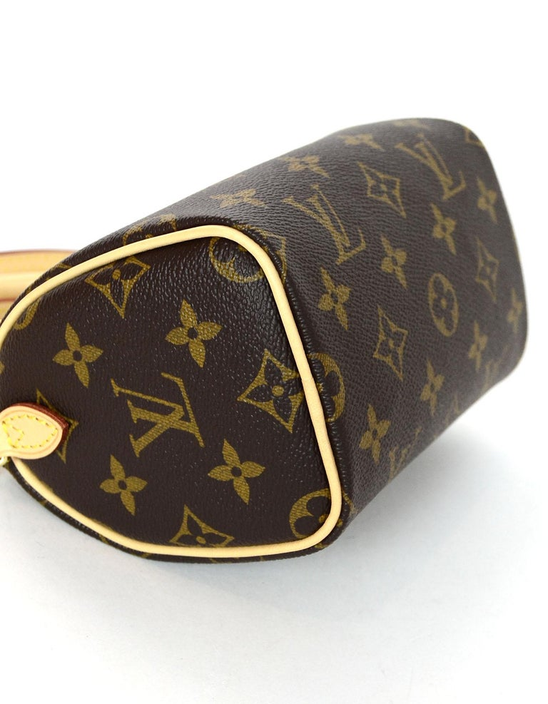 577aa7d4c8d Louis Vuitton LIKE NEW SOLD OUT Monogram Nano Mini Speedy Crossbody Bag In  Excellent Condition For