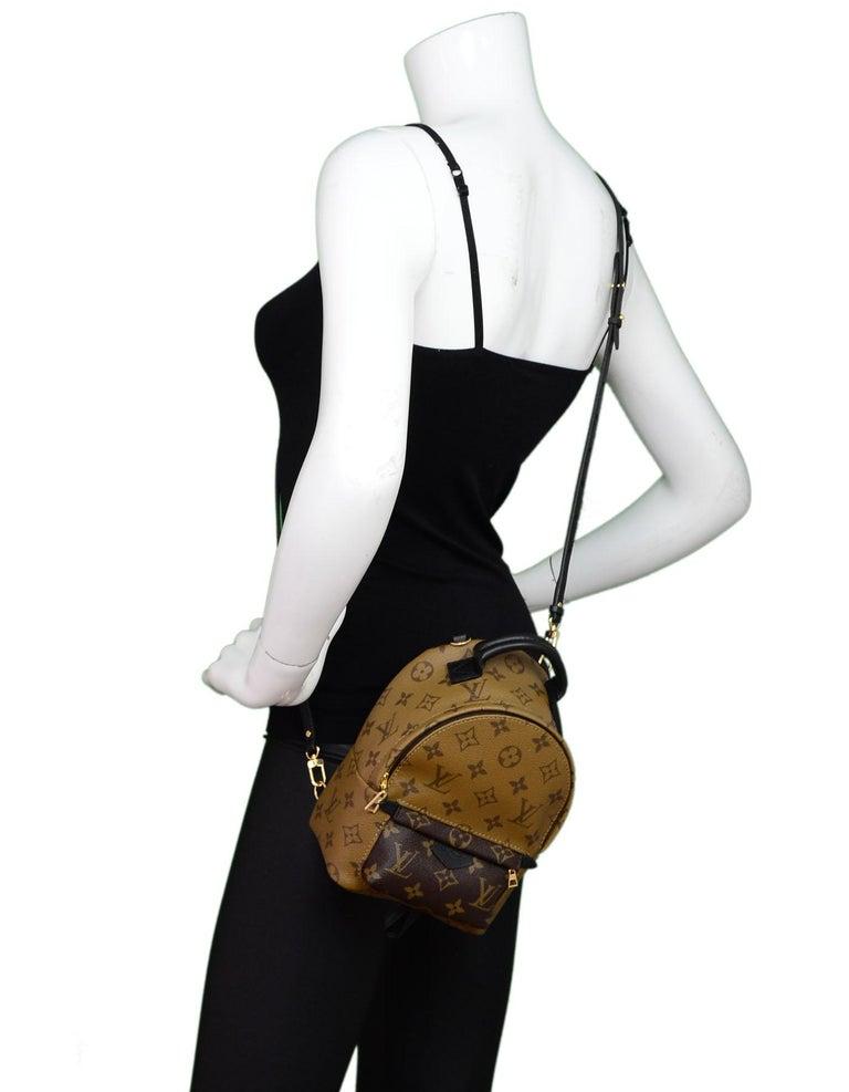 Louis Vuitton 2017 Monogram Reverse Palm Springs Mini Backpack Bag w ... 074cc1781dda4