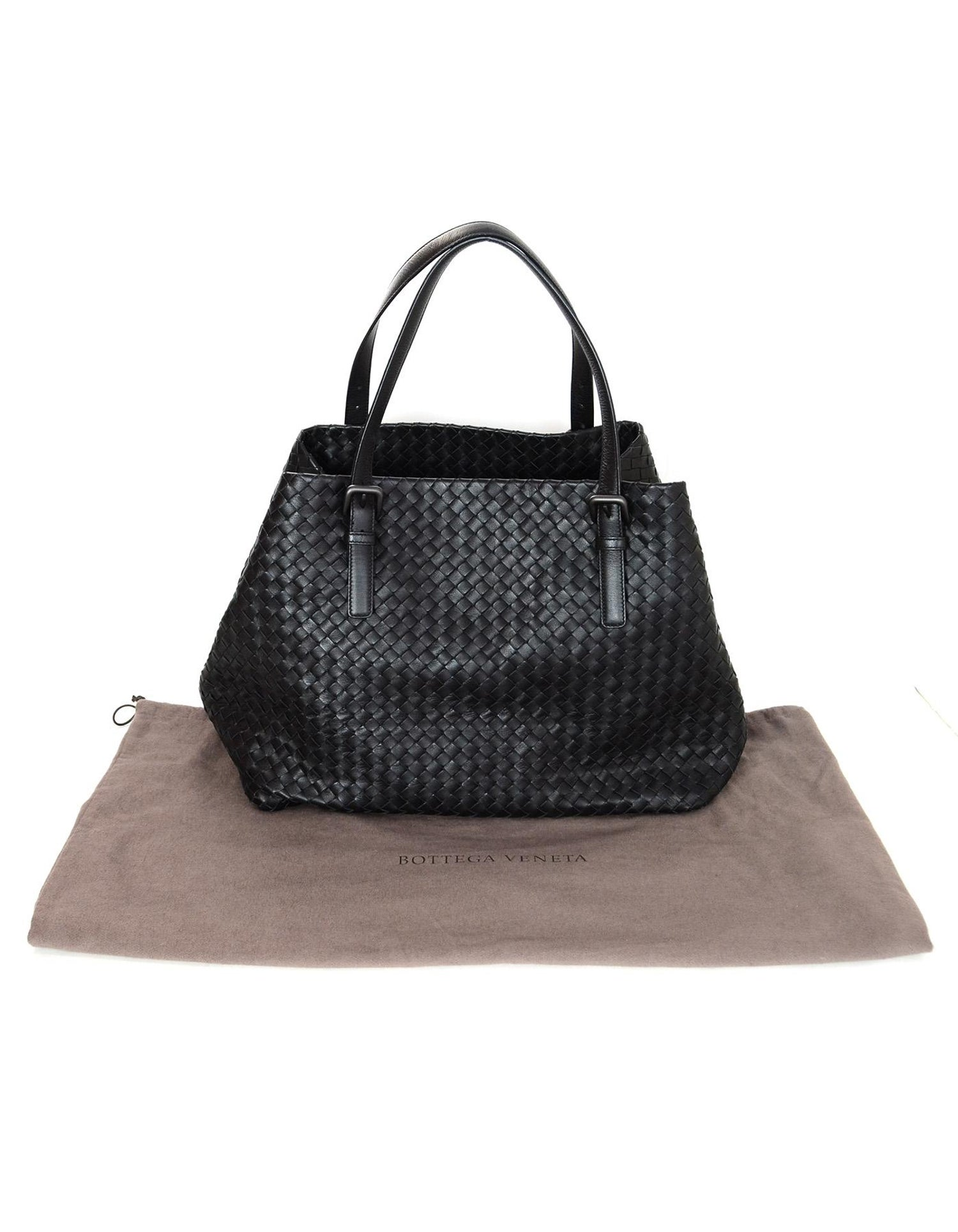 a09866b5dfad Bottega Veneta Black Woven Intrecciato Leather Large Cesta Tote Bag For  Sale at 1stdibs