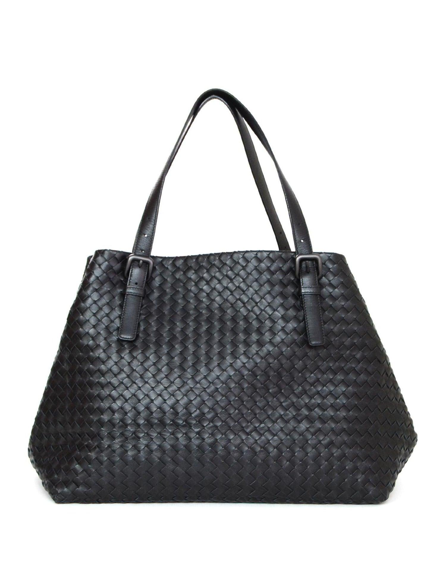 e4d94d9273 Bottega Veneta Black Woven Intrecciato Leather Large Cesta Tote Bag For Sale  at 1stdibs