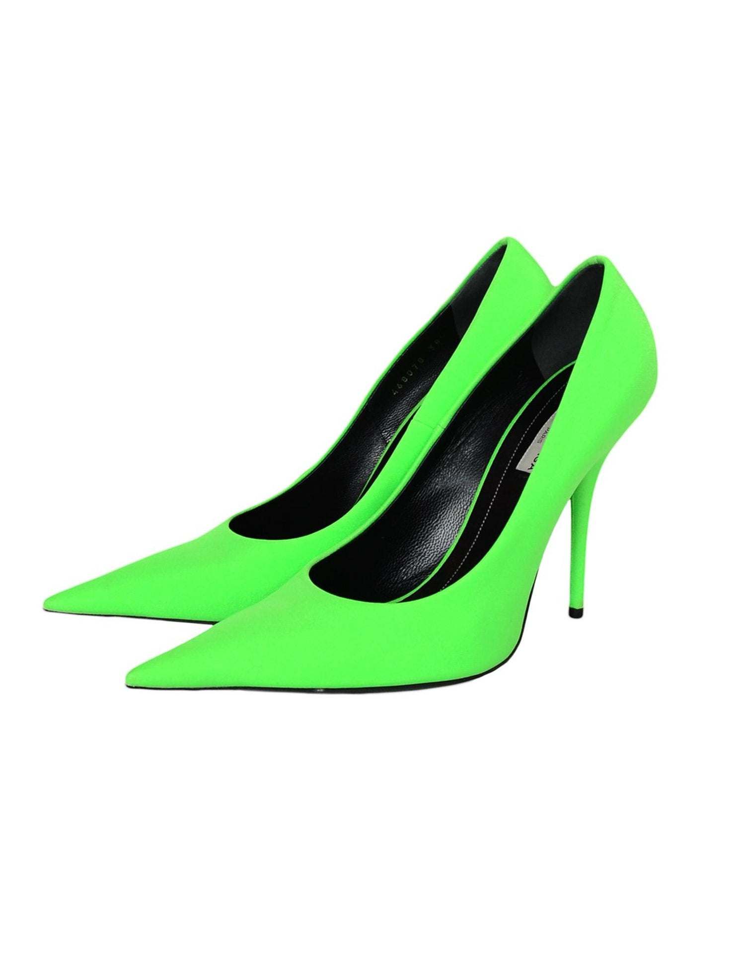 f842b9b5ae07 Balenciaga Neon Green Spandex Extreme Pointed Toe Knife Pumps sz 38.5 rt.   695 For Sale at 1stdibs