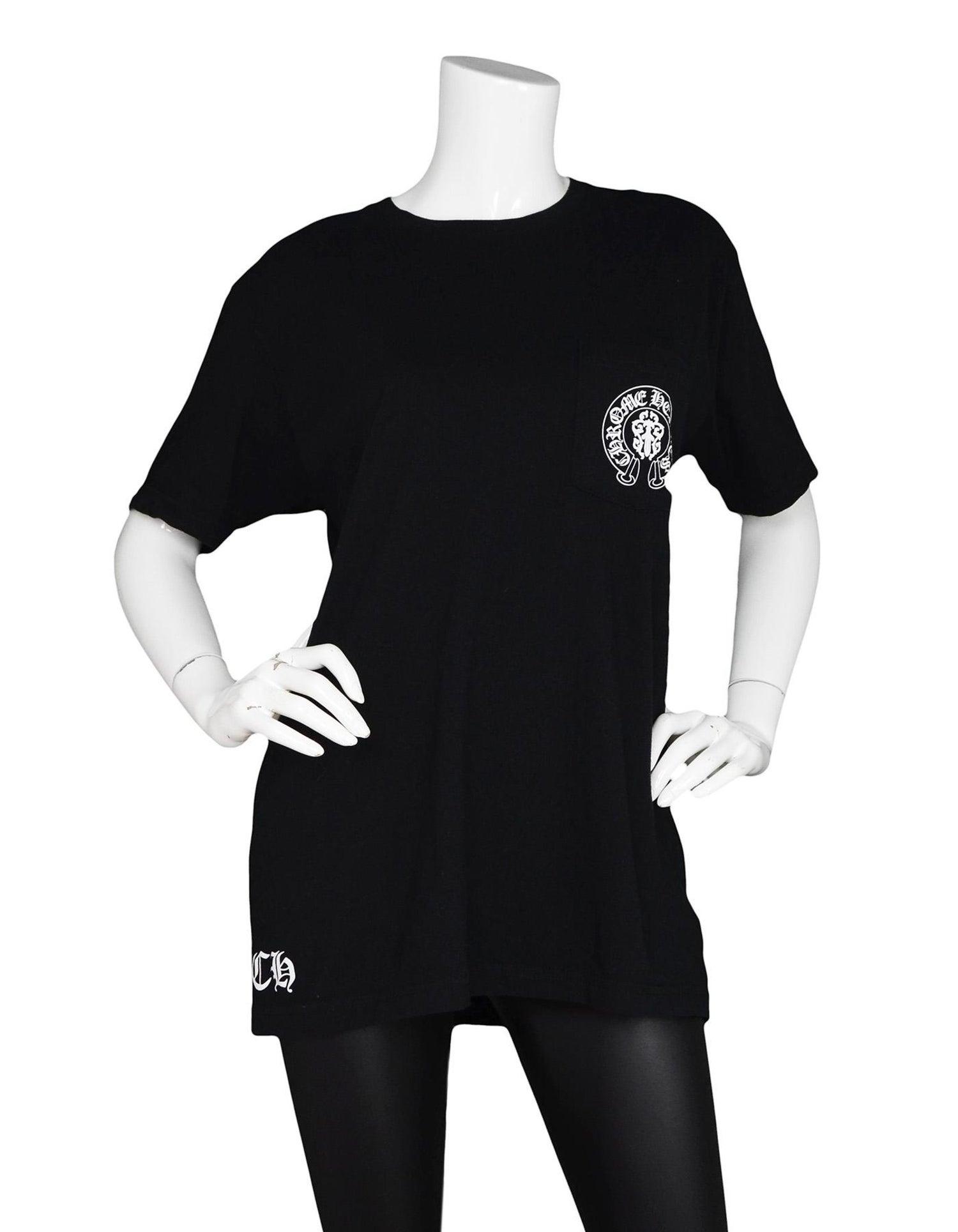 8dd47087c489 Chrome Hearts Men s Black Flag American Flag Cotton Pocket Short Sleeve  T-Shirt For Sale at 1stdibs