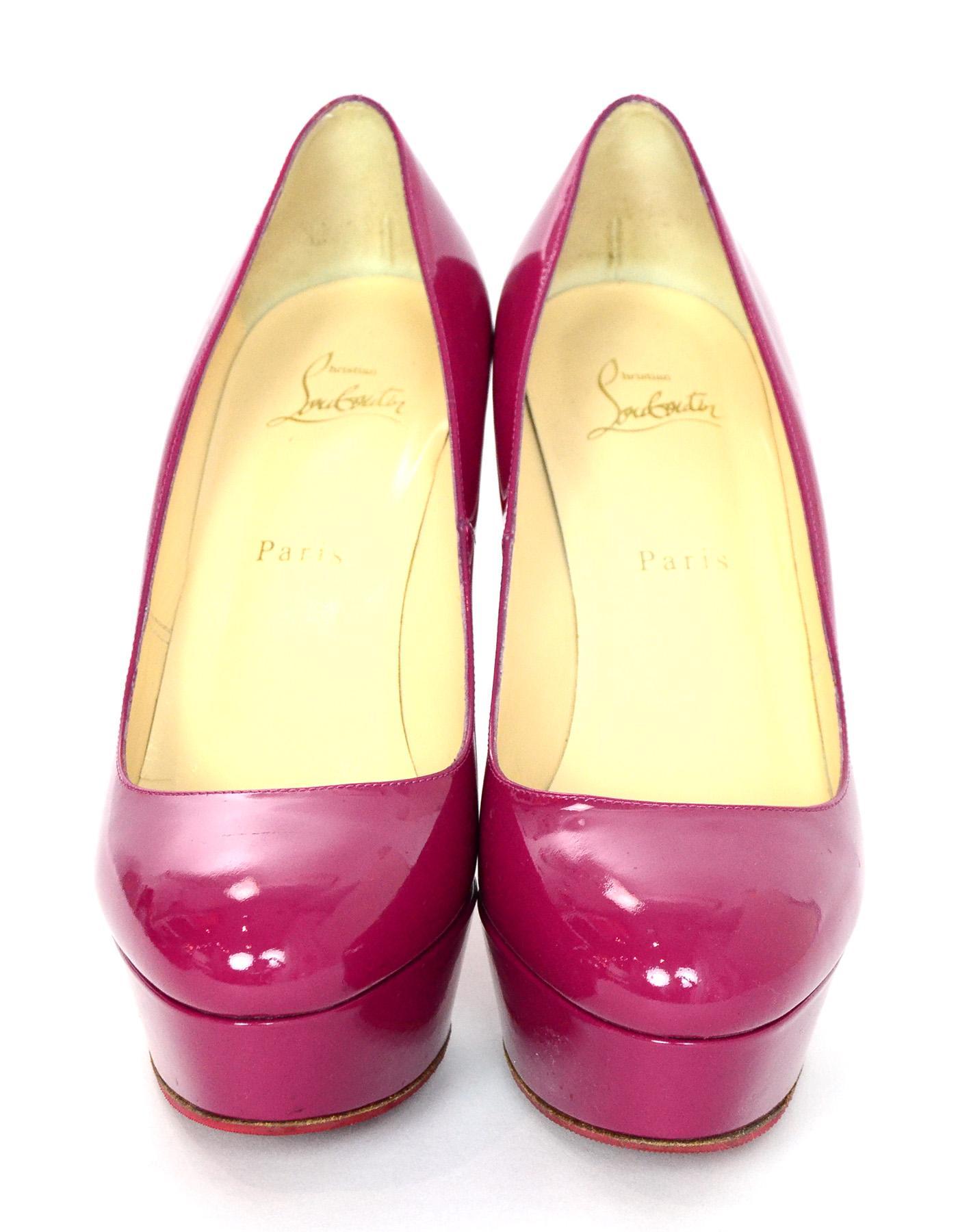 8ac3078b13ba Christian Louboutin Pink Patent Leather Bianca 120 Platform Pumps Sz 39 rt.   845 For Sale at 1stdibs