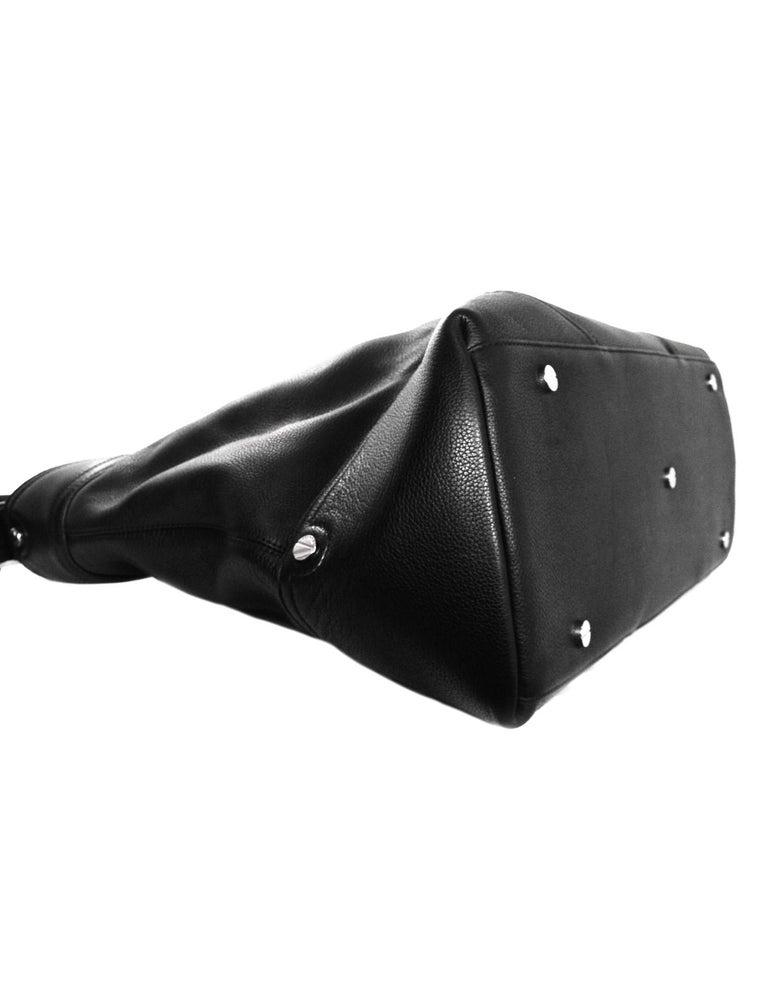 bcb703619000 Versace Black Leather Large Zip Top Overnight Duffle Bag Unisex