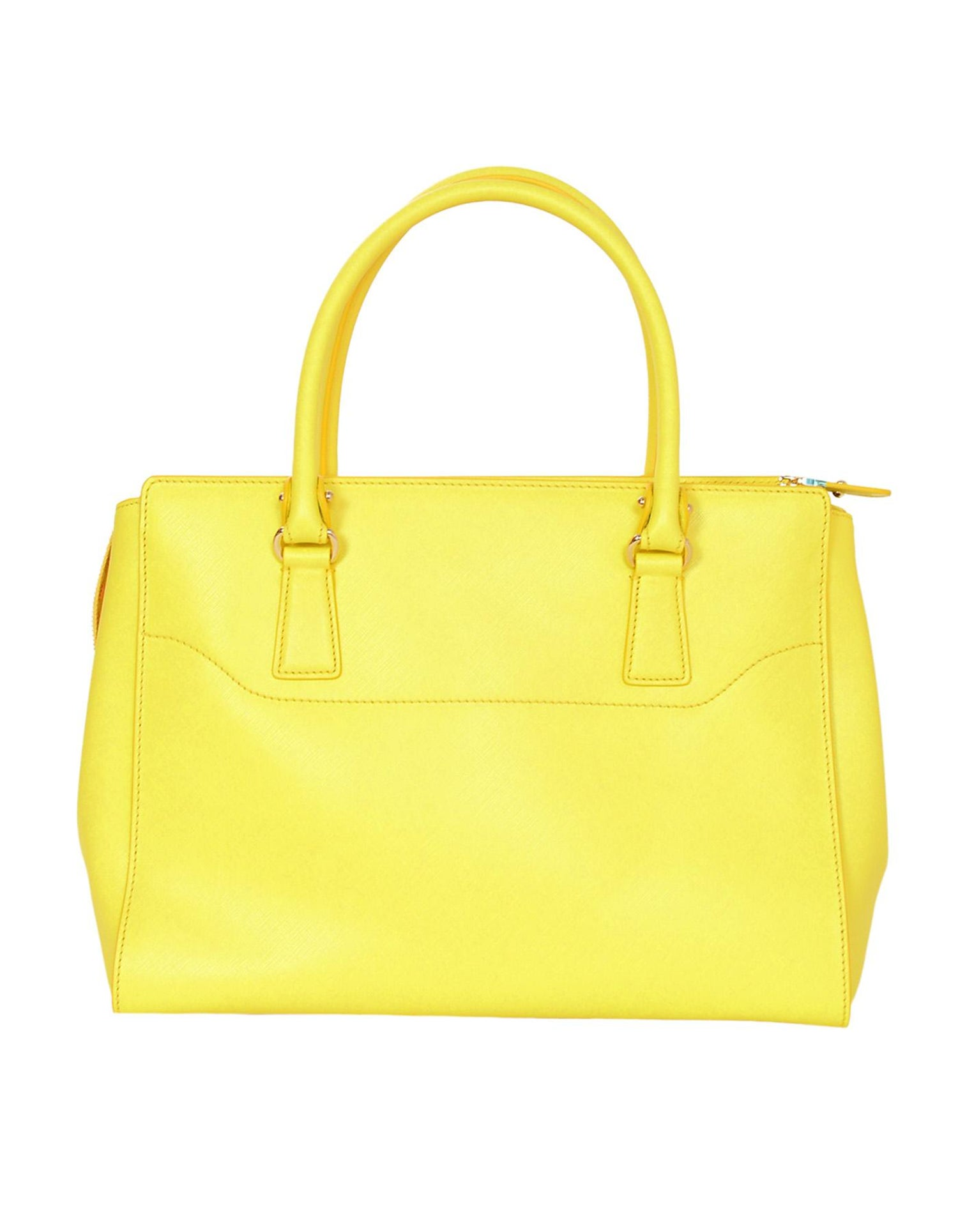 1d6aab267d Salvatore Ferragamo Mimosa Yellow Large Gianco Beky Saffiano Leather Tote  Bag at 1stdibs