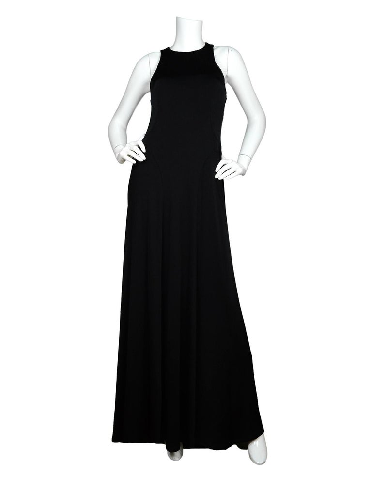 The Row Black Jersey Scuba/Bodycon Stretchy Sleeveless Gown Dress NWT Sz M  Made In: U.S.A. Color: Black Materials: Jersey: 96% viscose, 4% elastane  Opening/Closure: Pull-over Overall Condition: New with tags Includes:  Tags  Measurements: Tag Size