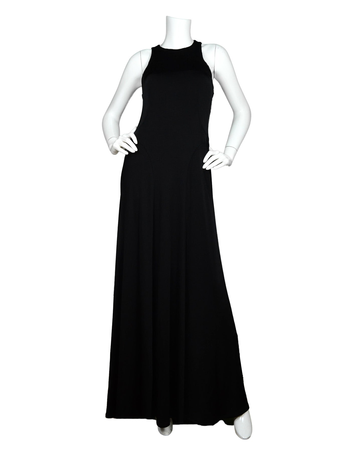 79a383c6c7c1 The Row Black Jersey Scuba / Bodycon Stretchy Sleeveless Gown Dress For Sale  at 1stdibs