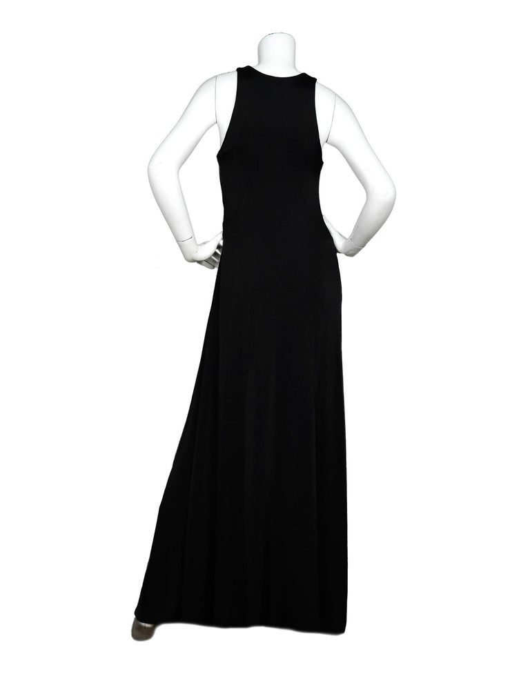 The Row Black Jersey Scuba / Bodycon Stretchy Sleeveless Gown Dress  In New Condition For Sale In New York, NY