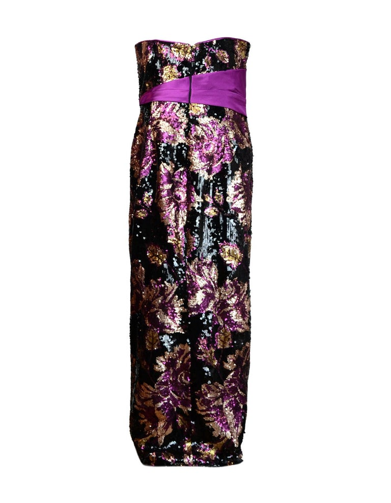 Marchesa Notte Silk Blend Faille-Trimmed Floral Sequined Tulle Gown ...