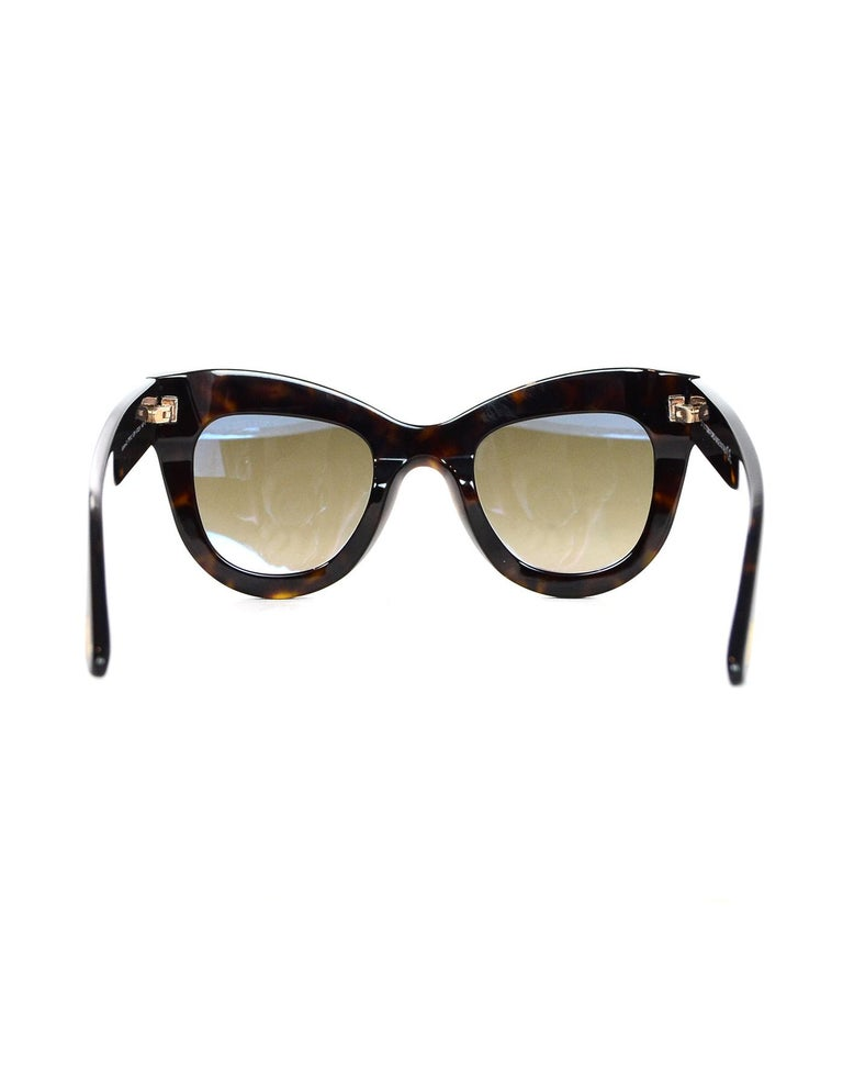 Tom Ford Karina Brown Tortoise Sunglasses   In Excellent Condition For Sale In New York, NY