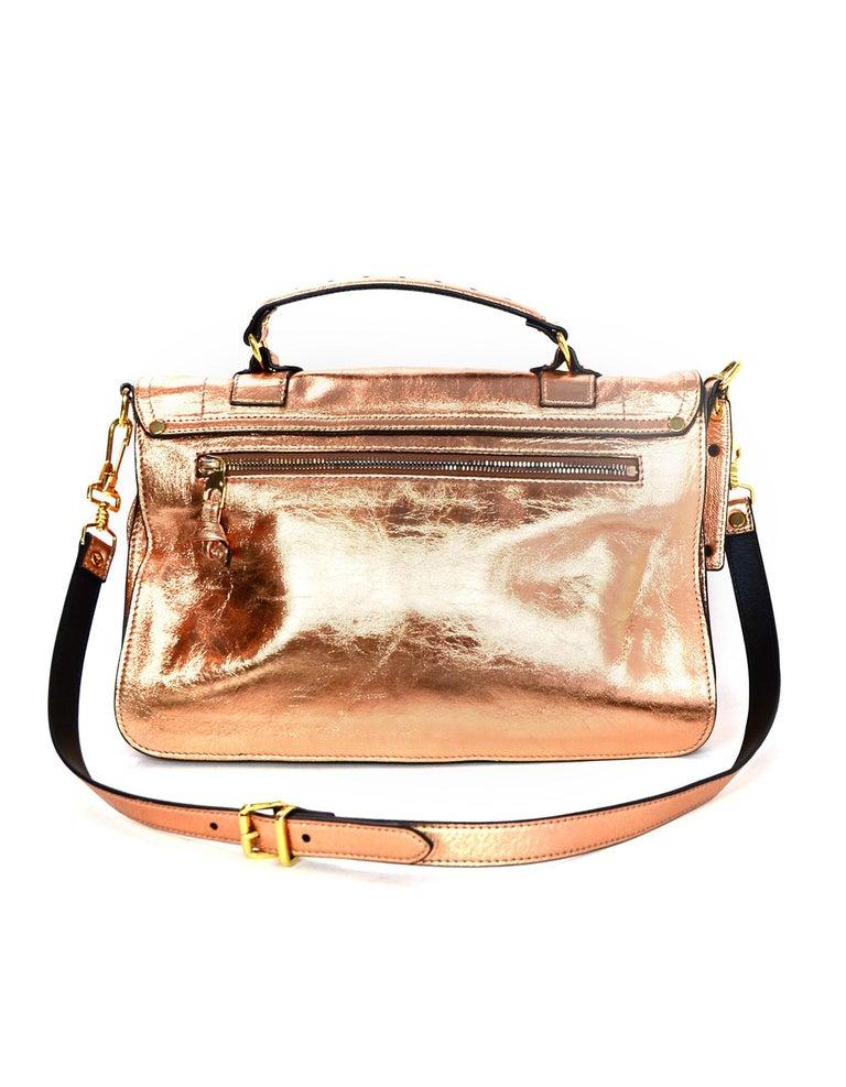 Beige  Proenza Schoulder Copper Metallic Lambskin Medium PS1 Satchel Bag For Sale