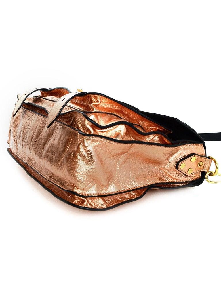 Proenza Schoulder Copper Metallic Lambskin Medium PS1 Satchel Bag In Excellent Condition For Sale In New York, NY