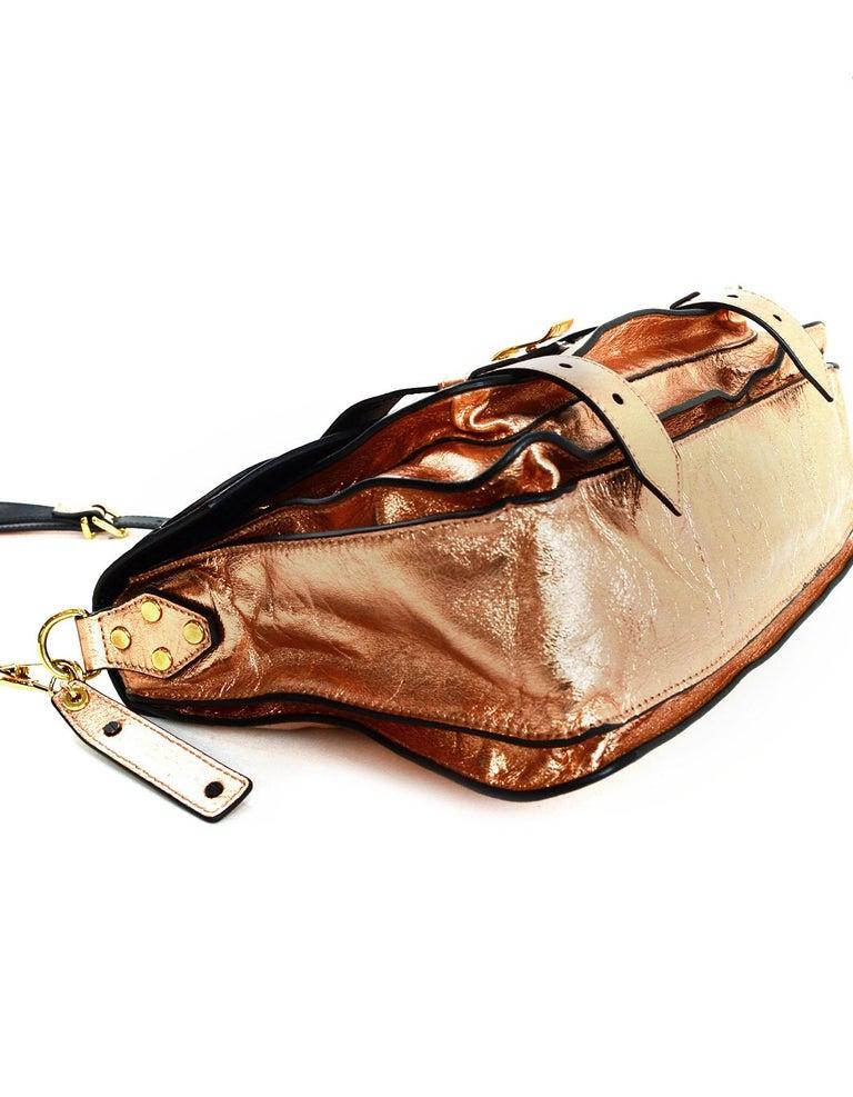 Women's  Proenza Schoulder Copper Metallic Lambskin Medium PS1 Satchel Bag For Sale