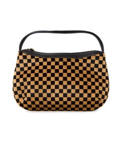 Louis Vuitton LV Brown/Tan Checkered Damier Sauvage Calf Hair Tigre Bag