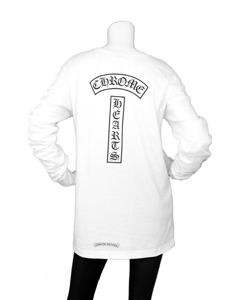 021ebaa66012 Chrome Hearts Men s White Longsleeve Logo Pocket T-Shirt Made In  U.S.A.  Color
