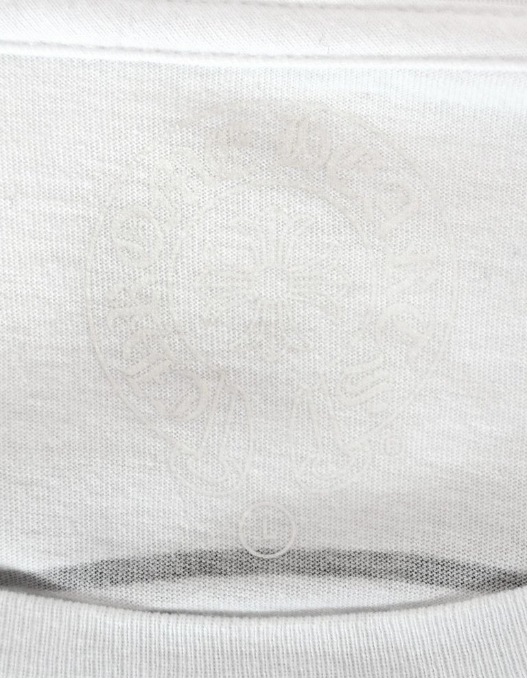 05fdfe756923 Women s or Men s Chrome Hearts Men s Unisex White Longsleeve Logo Pocket T-Shirt  Sz L