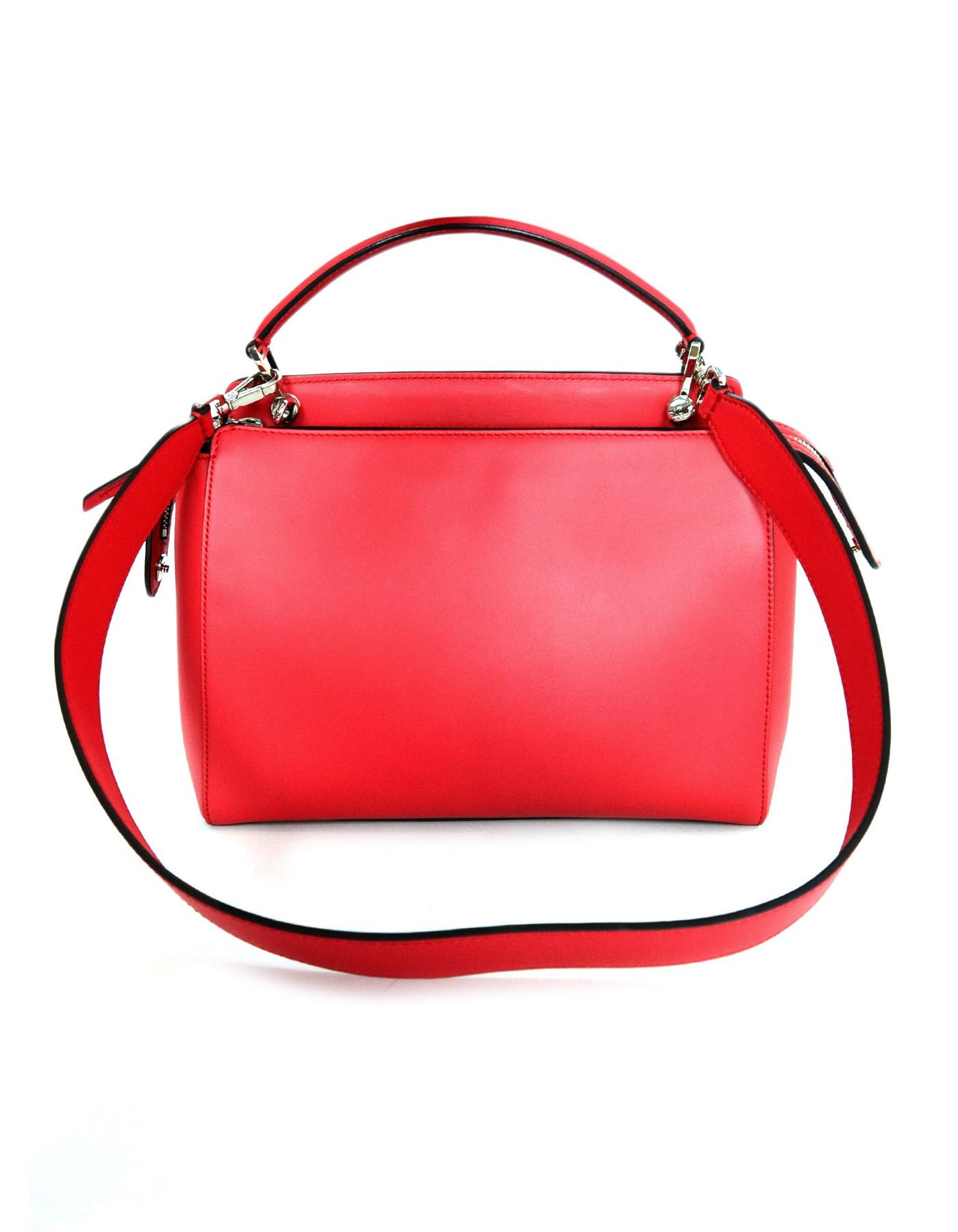74282c2f7bd3 Fendi Red Nappa Leather Whipstitch Fashion Show Dotcom Satchel Bag w  Strap For  Sale at 1stdibs