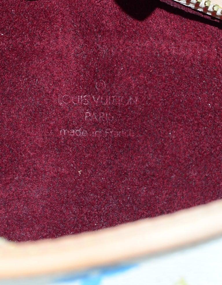 1561c19c36a9 Louis Vuitton Shirley White   Multi-Color LV Monogram Clutch Wristlet Bag  For Sale