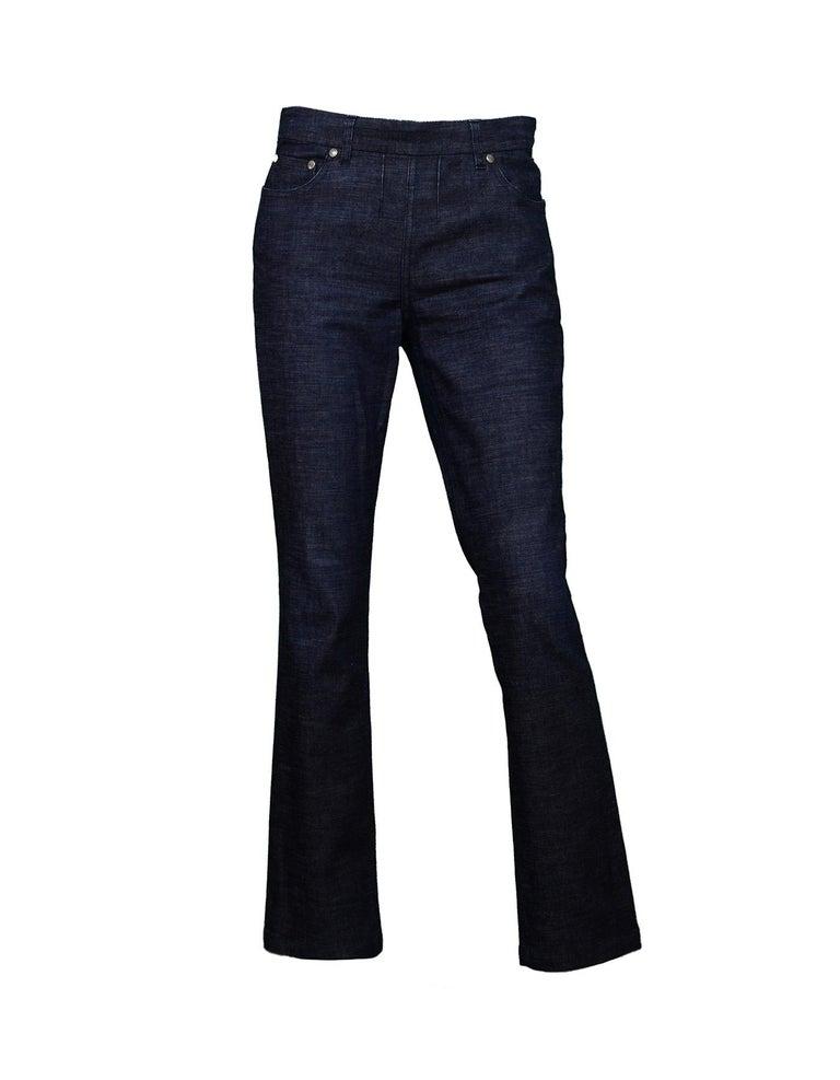 98267d9f8e5 Yves Saint Laurent YSL Dark Denim Pant/Jacket 2 Piece Set Sz 38 In Excellent