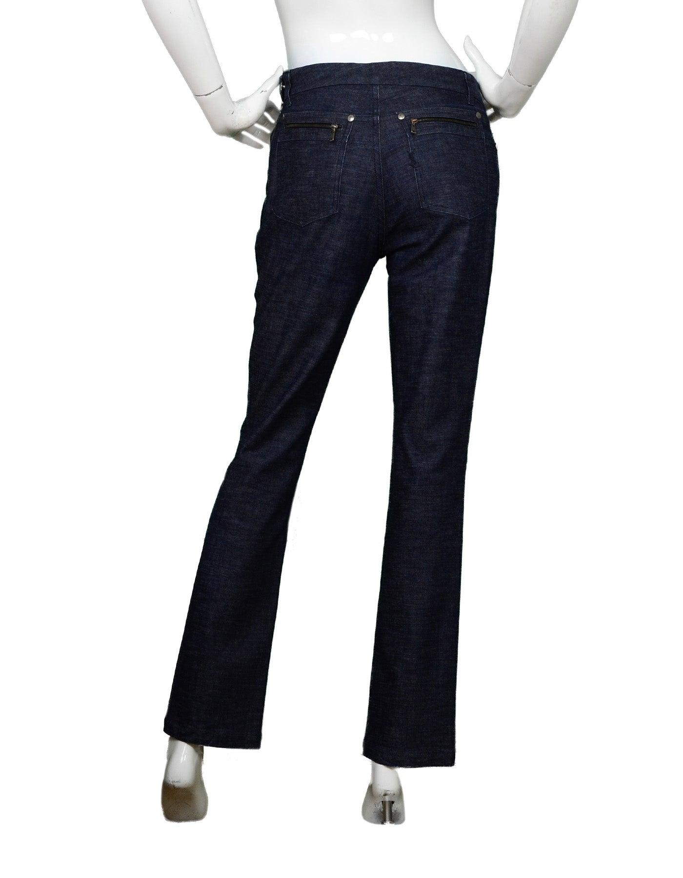 6fcae0a485e Yves Saint Laurent YSL Dark Denim Pant/Jacket 2 Piece Set Sz 38 For Sale at  1stdibs