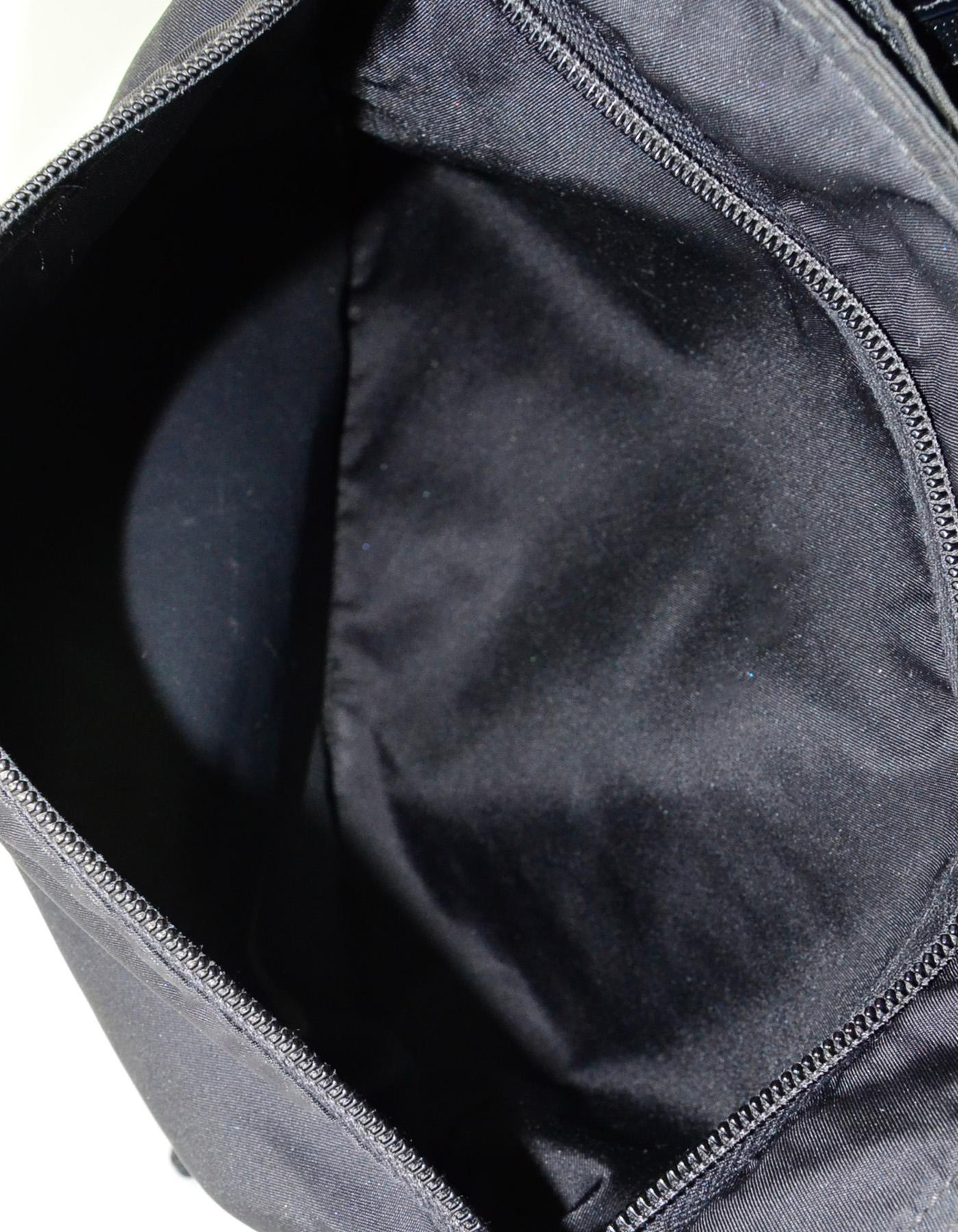 50033db4b5 ... spain prada black tessuto nylon flat messenger crossbody bag w front  zip pocket for sale 2