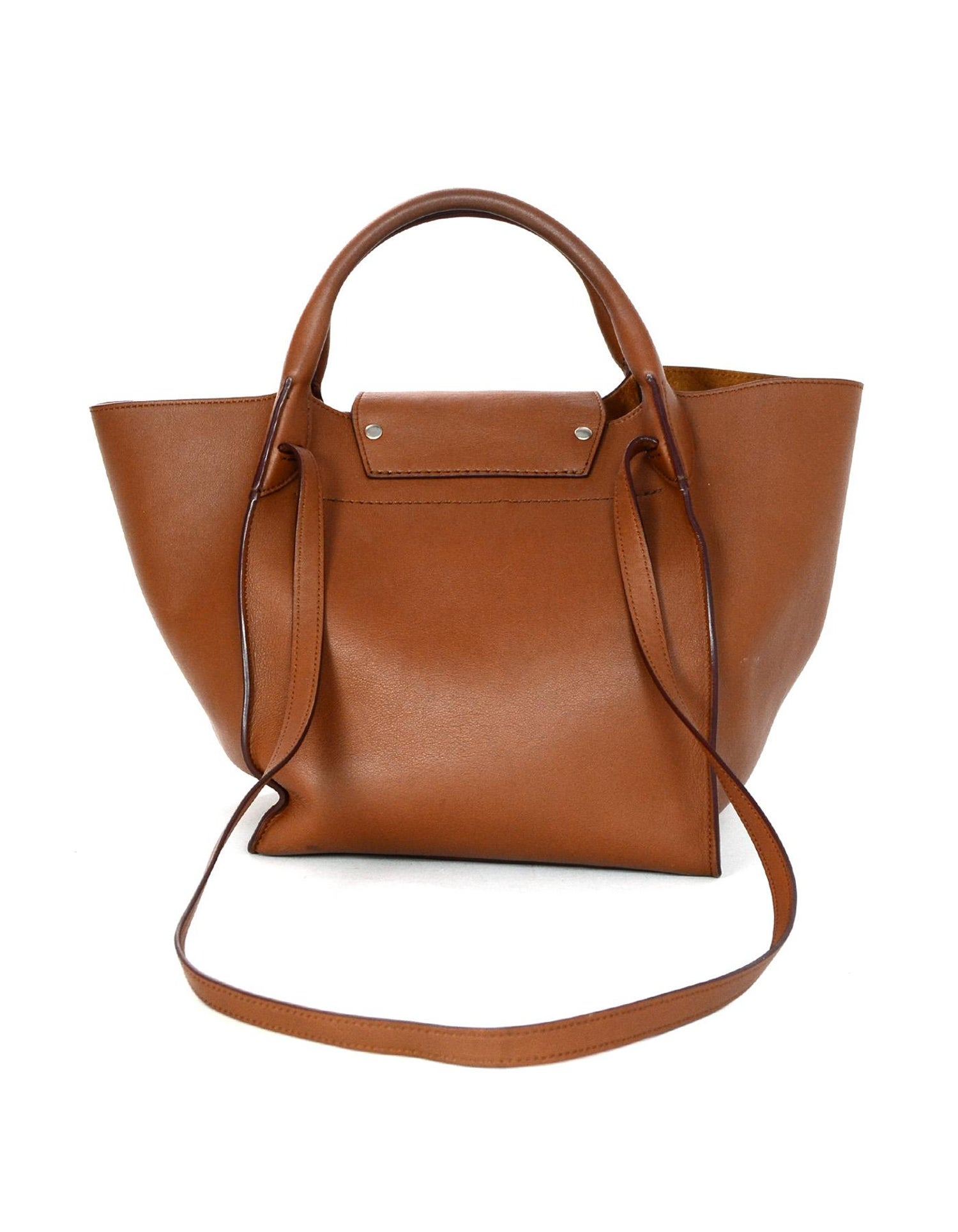 5db3563457 Celine 2018 Tan Leather Small Big Bag w  Buckle and Strap For Sale at  1stdibs