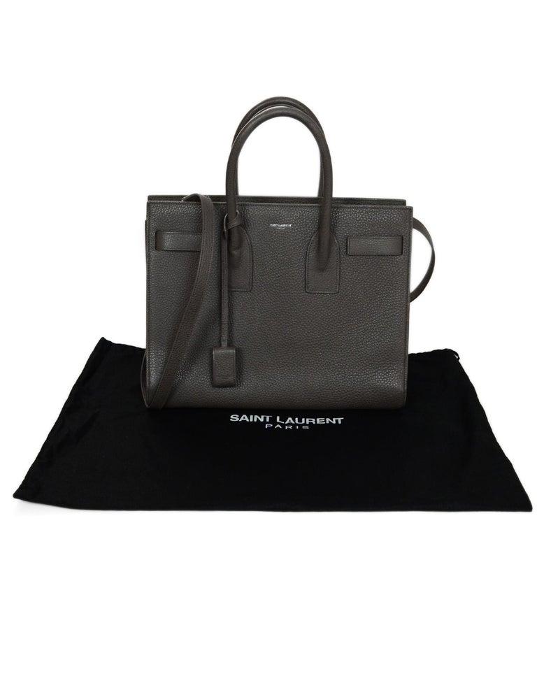 3a9c6fc873de YSL Yves Saint Laurent Grey Pebbled Leather Small Sac De Jour Tote Bag For  Sale 4