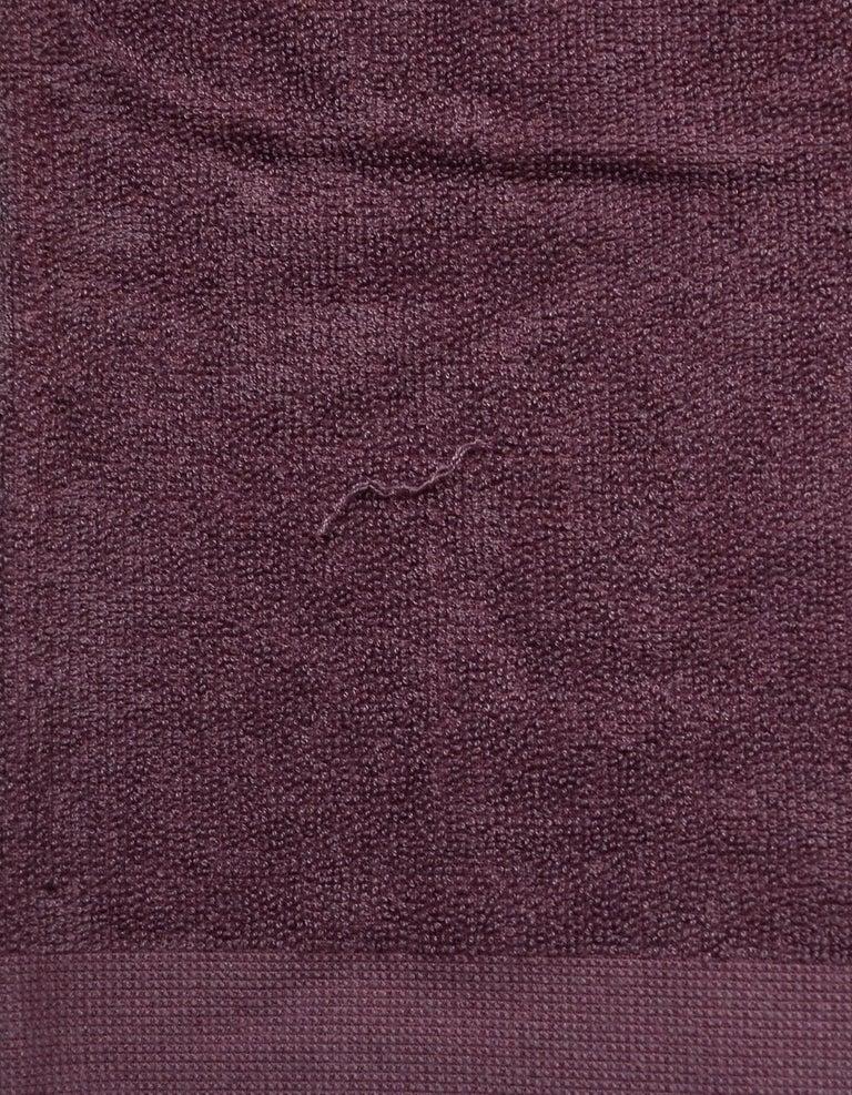 Gray Chanel Purple XL CC Cotton Beach Towel  For Sale
