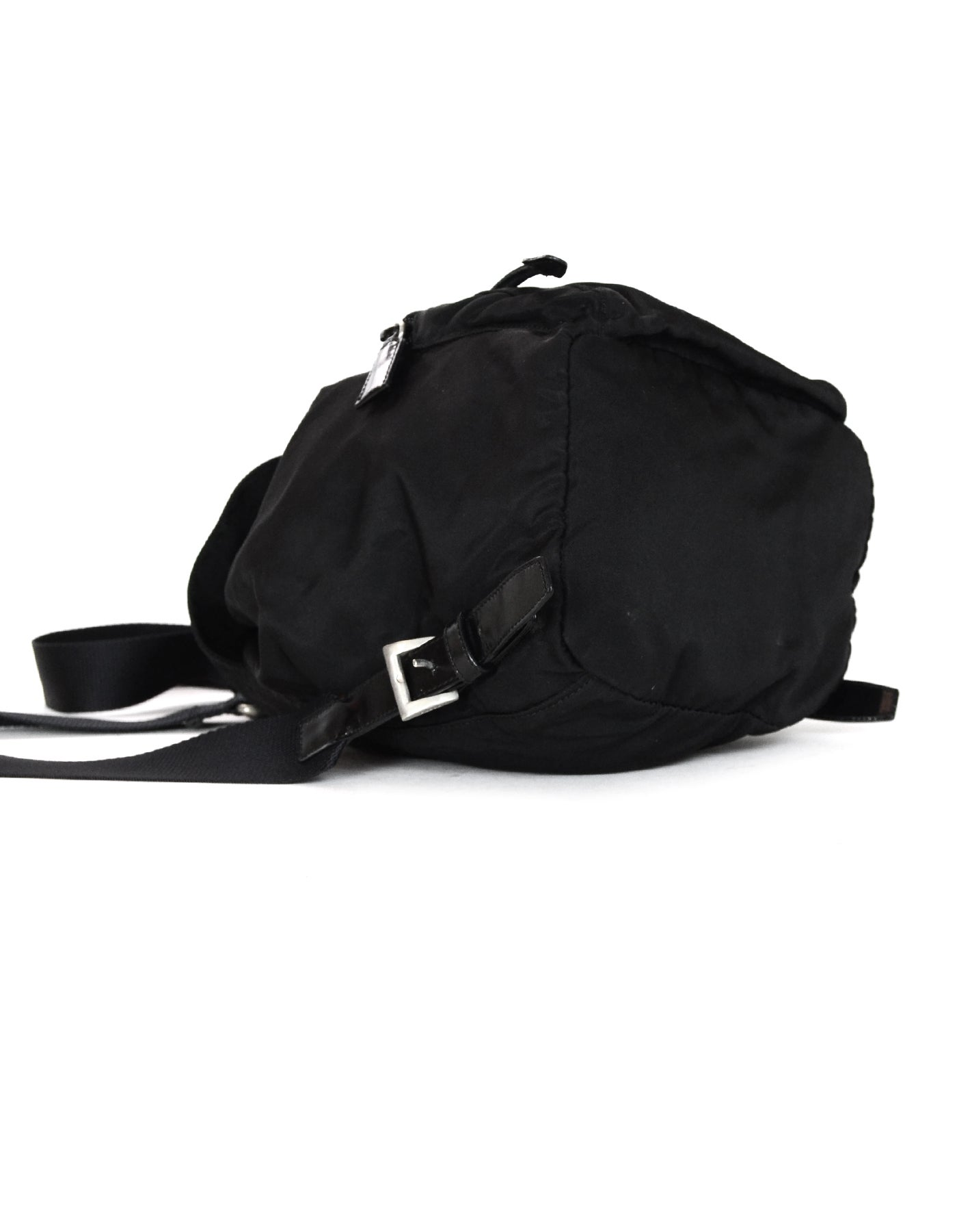 10f6bd83a36 Prada Black Nylon Small Backpack Bag W  Front Zip Pocket at 1stdibs