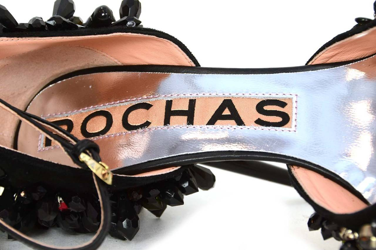 ROCHAS Black Embellished Pointed Toe Pumps sz 39 rt. $2,075 7