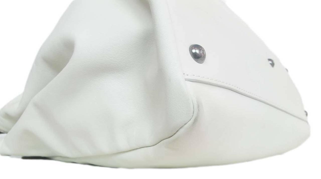 Fendi White Leather Large Peekaboo Bag w Pink Python Lining rt. $5,620 4