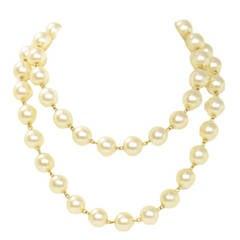 CHANEL Vintage 1990-1992 Pearl Necklace/Belt w/Gold Star Pendant