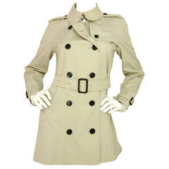 BURBERRY Beige Double Breasted Trench Coat W/Belt -Sz 6 Rt. $1,700