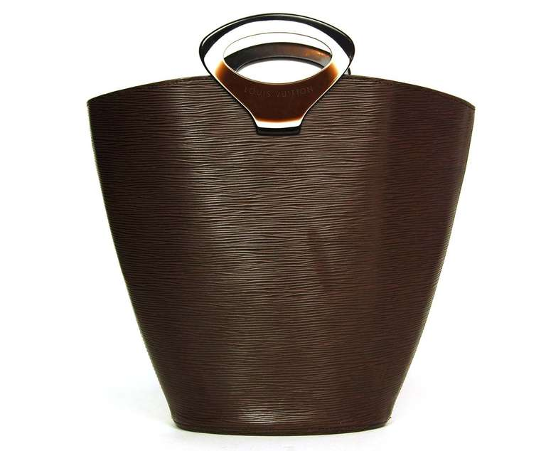 Louis Vuitton Brown Epi Leather Ltd Edition Tote Bag w. Resin Top Handle 3
