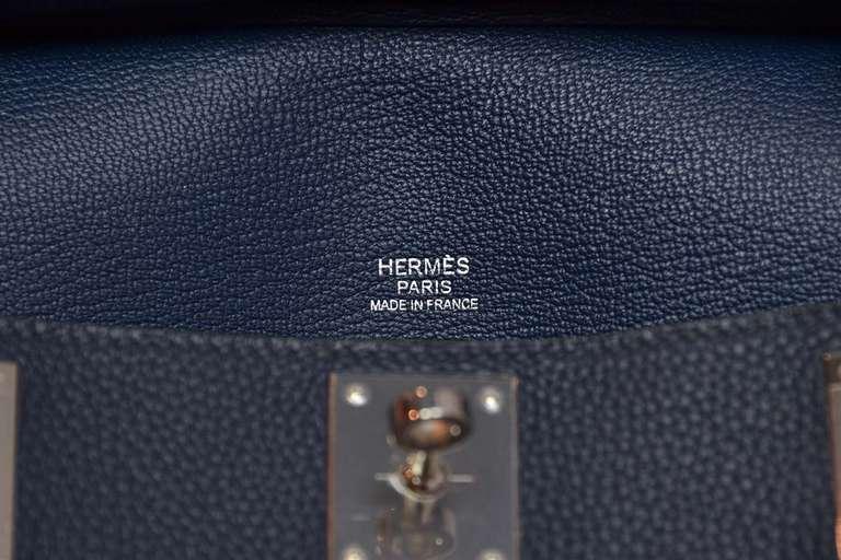 Hermes 2013 Bleu De Prusse Taurillon Clemence 28cm