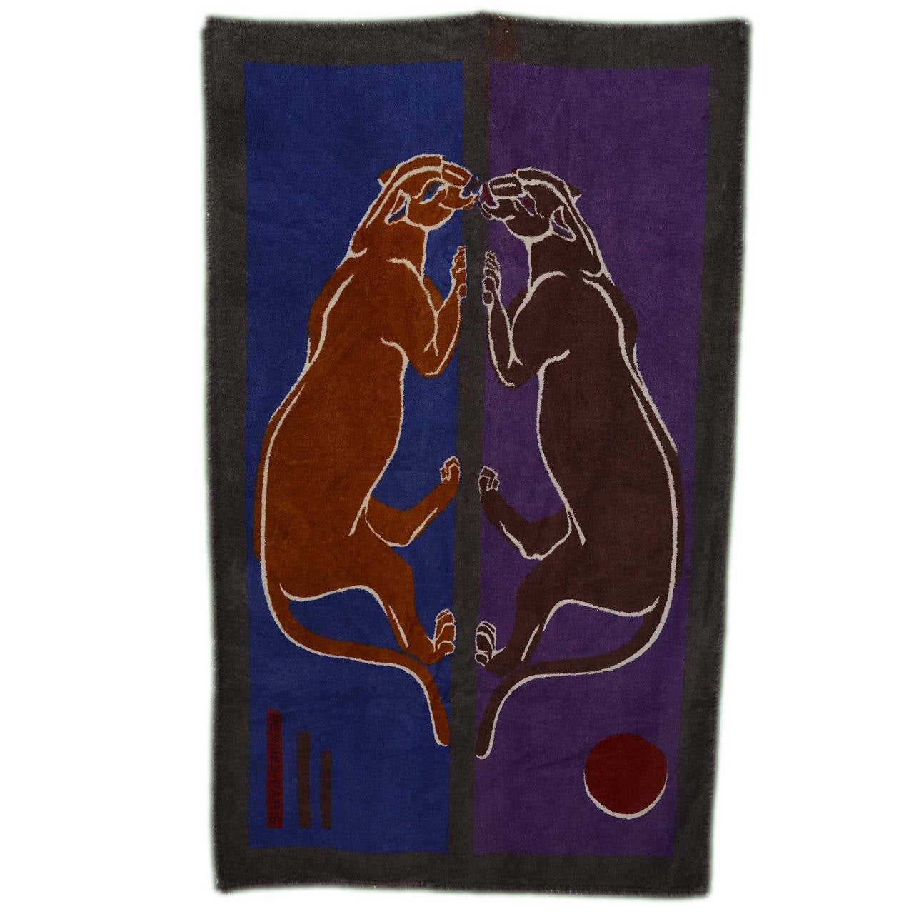 Hermes Purple Blue Grey Terry Cloth Beach Towel For Sale