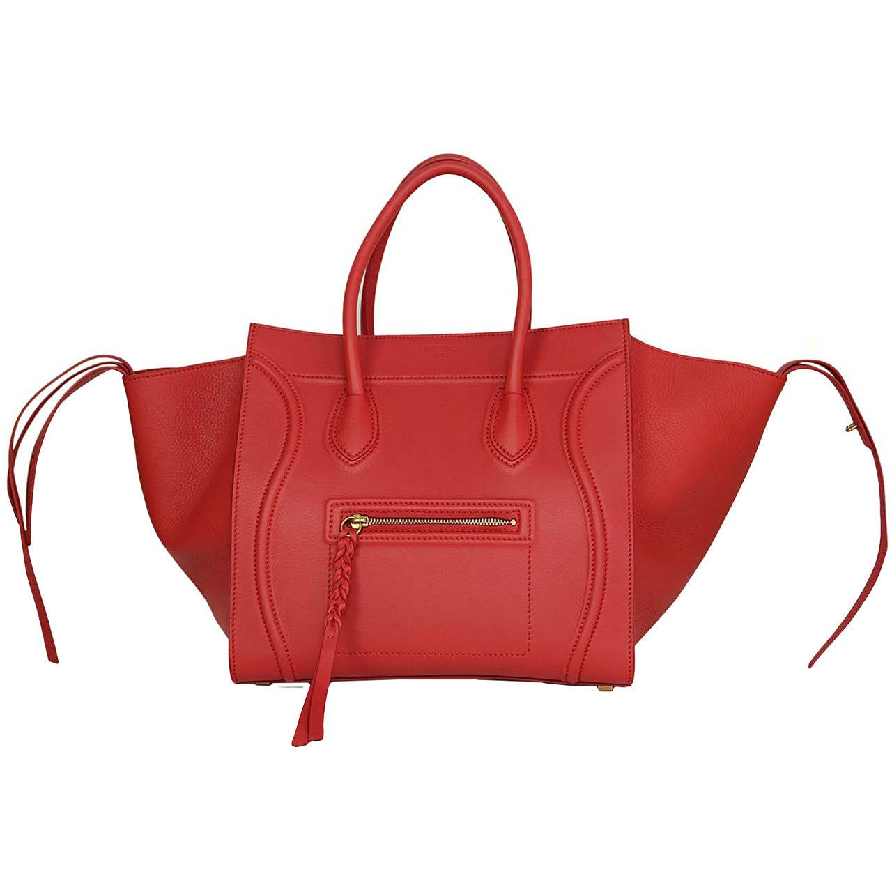 celine bags replica - CELINE Fuchsia Calfskin Medium Luggage Phantom Bag BHW at 1stdibs