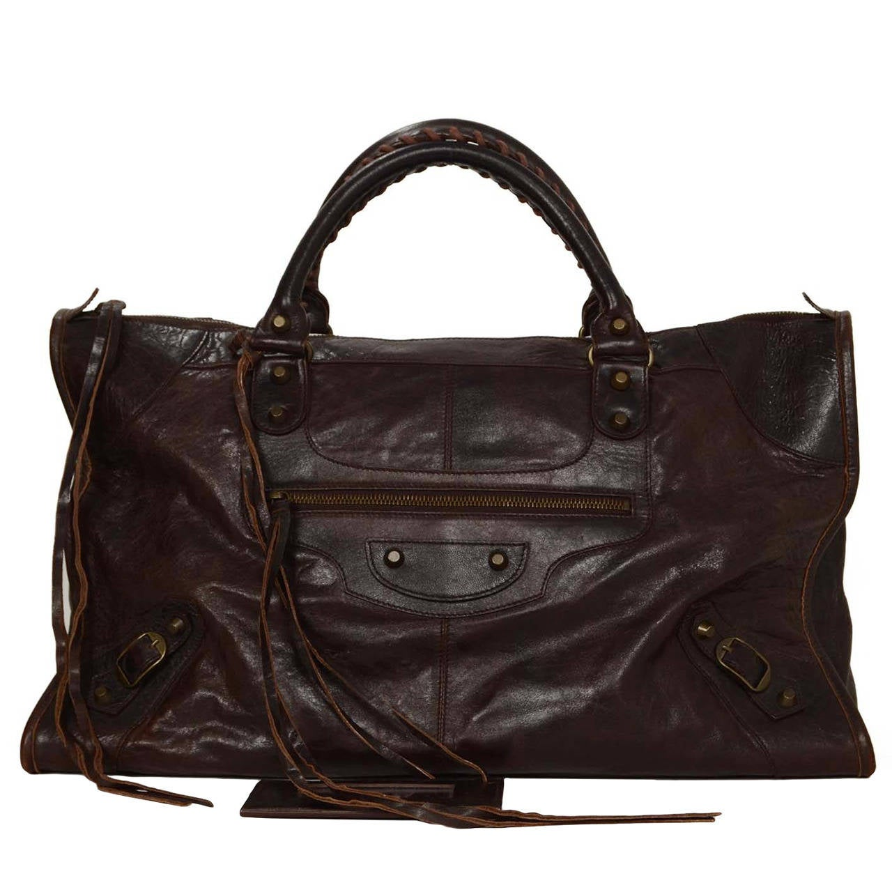 balenciaga brown leather classic work bag bhw at 1stdibs