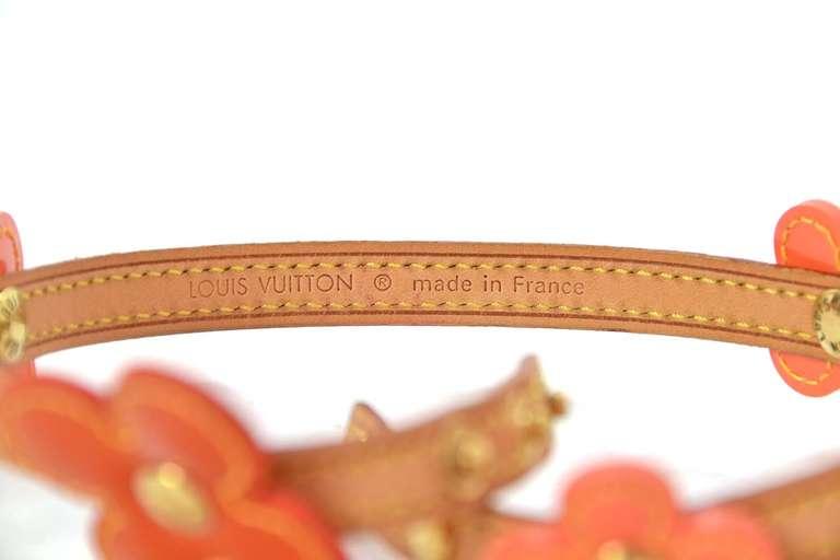 LOUIS VUITTON Orange Vernis Flower Wrap Bracelet 5