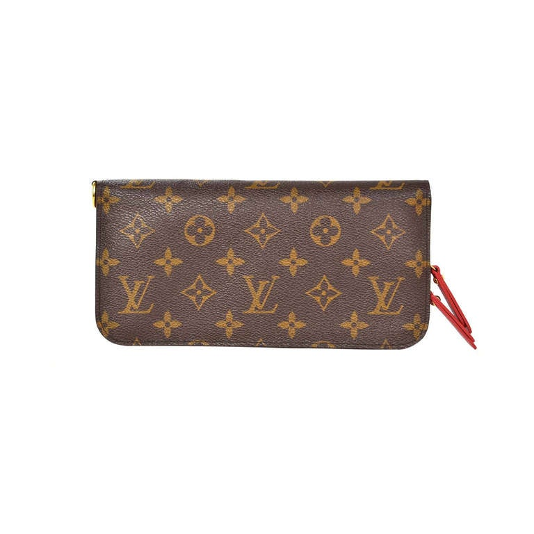 LOUIS VUITTON Monogram Long Insolite Wallet W/Red Lining ...