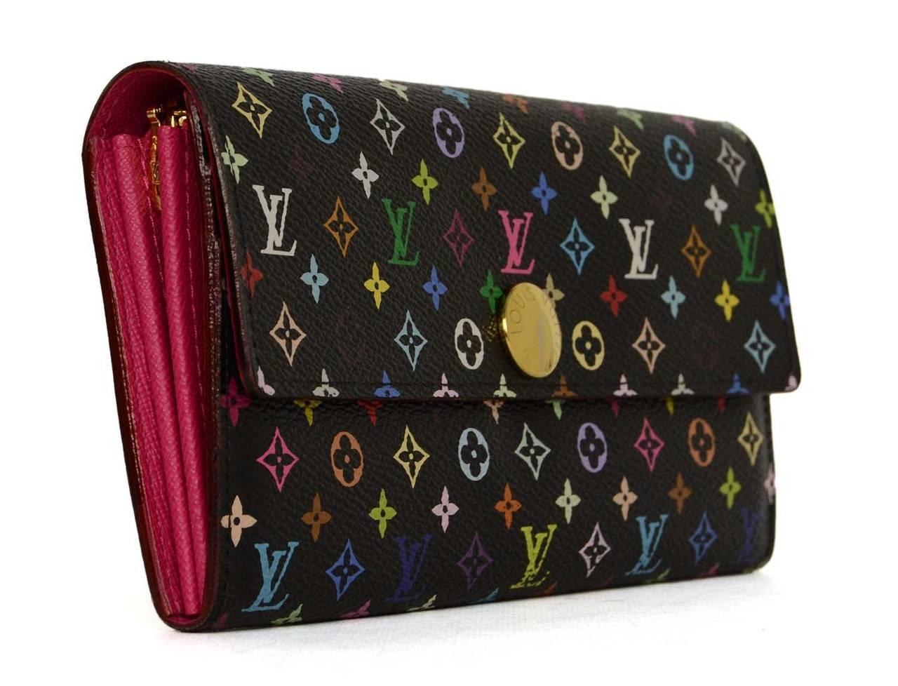 Louis Vuitton Multi Color Monogram Canvas Sarah Wallet Ghw
