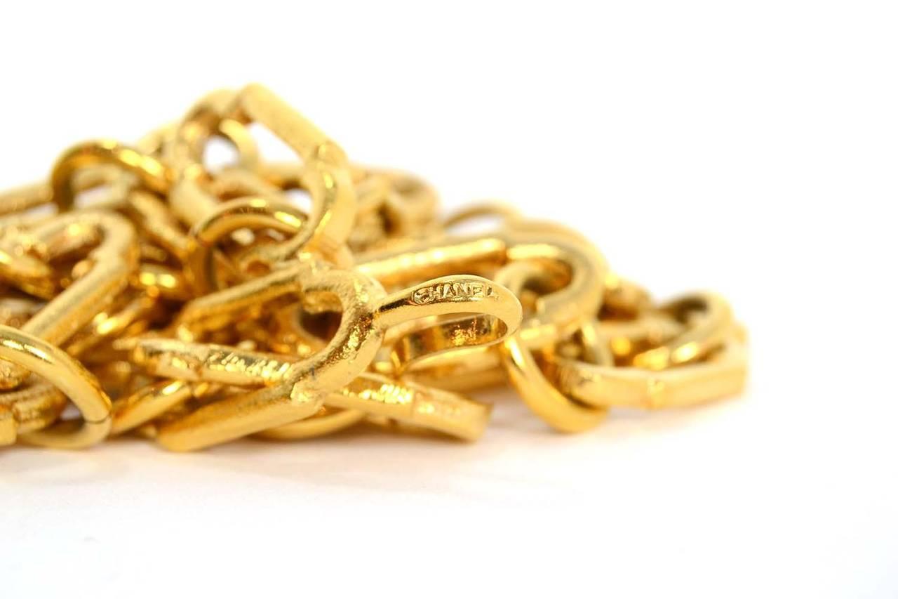 CHANEL Gold Chain Link Filigree Medallion Belt 4