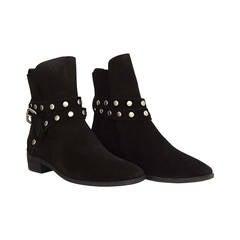 SEE BY CHLOE Black Suede Ankle Booties sz 37.5