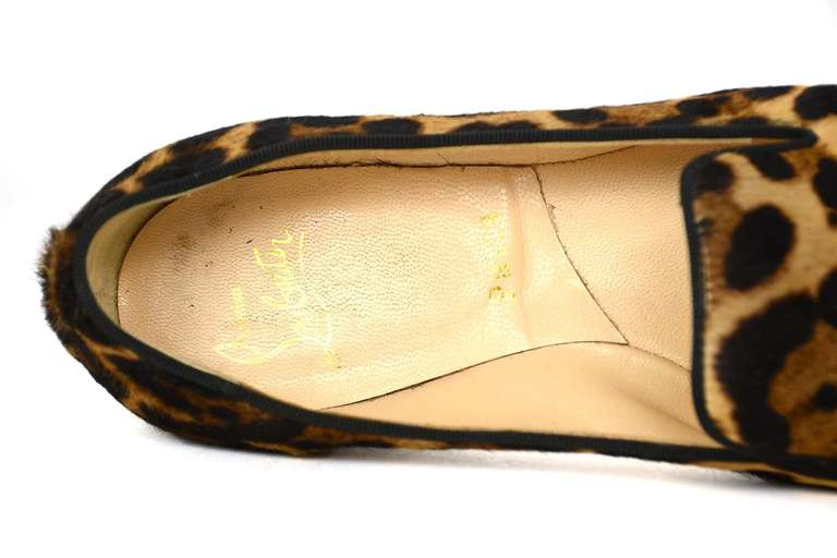 christian louboutin leopard print ponyhair flats | Boulder Poetry ...