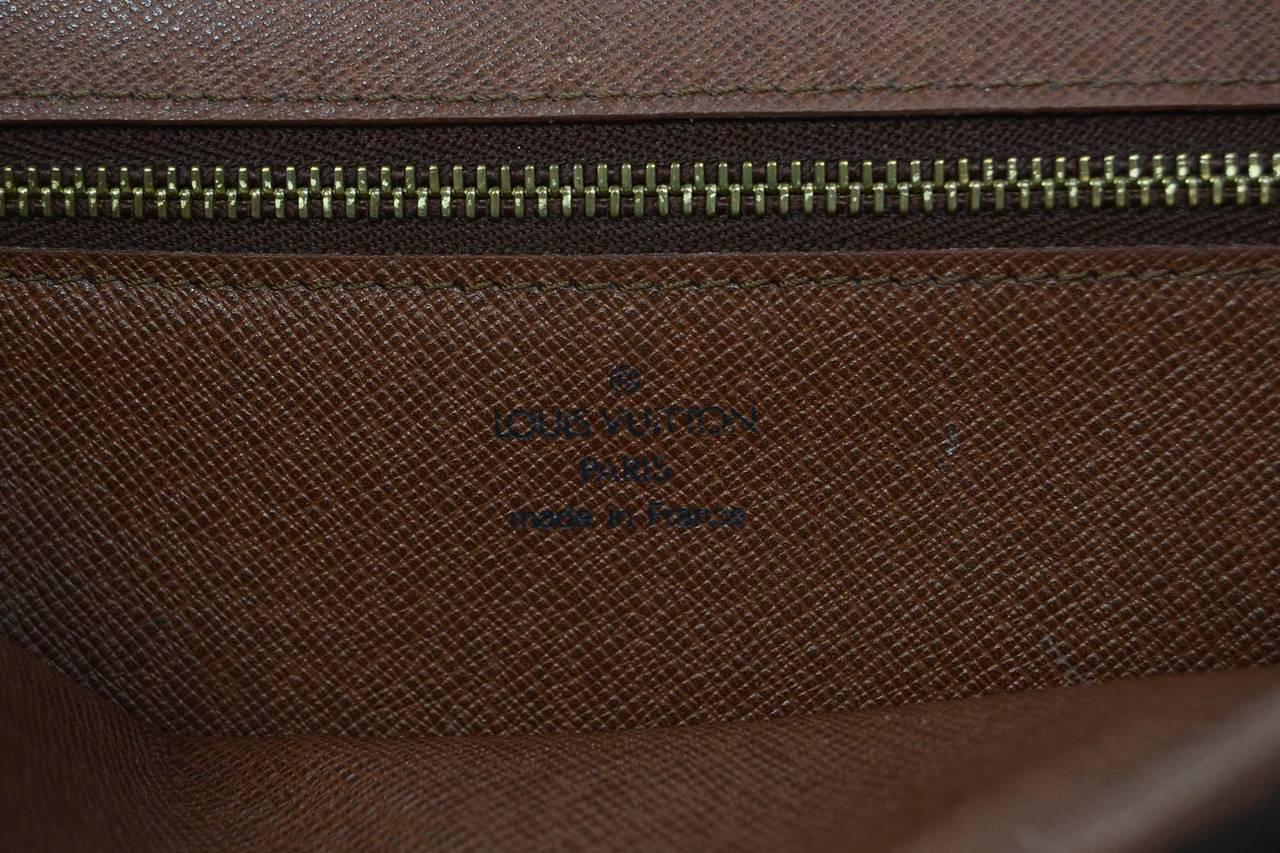 LOUIS VUITTON Vintage '91 Monogram Canvas Clutch Bag GHW 8