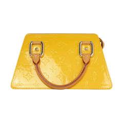 LOUIS VUITTON Yellow Mango Monogram Vernis Forsyth PM Bag Rt. $810