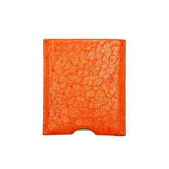 HERMES Orange Ostrich Pocket Light & Card Holder