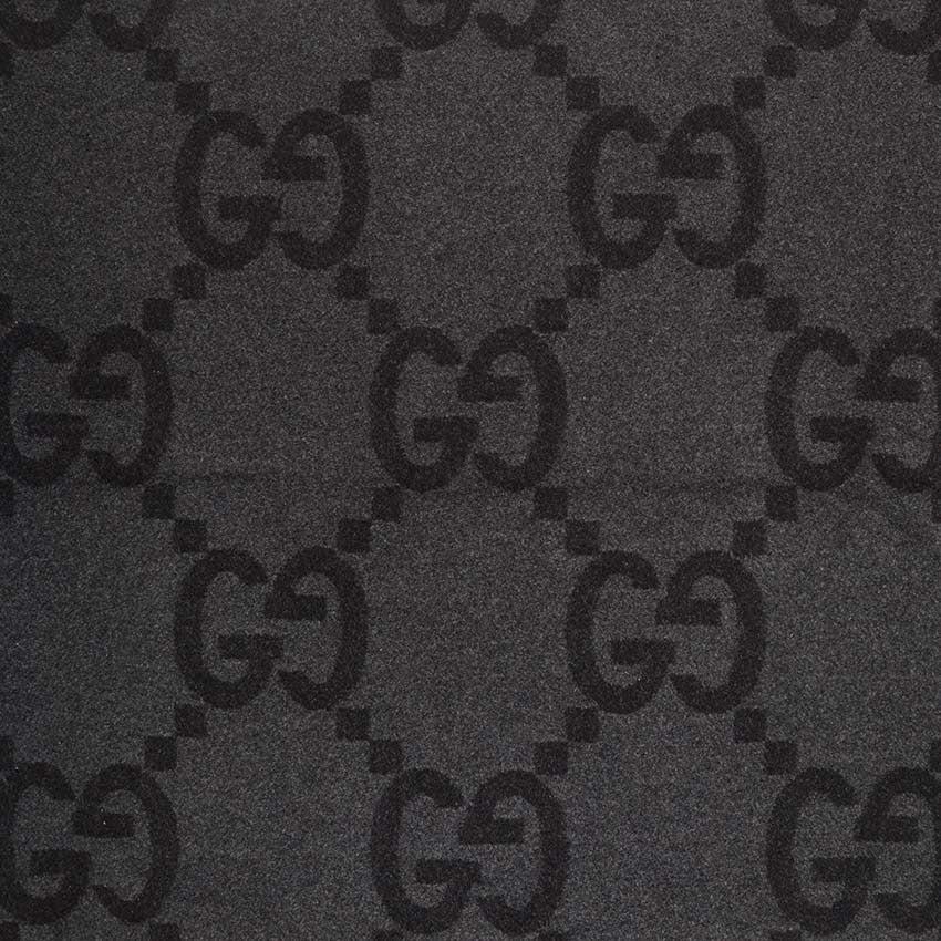Gucci Black And Grey Monogram Blanket At 1stdibs